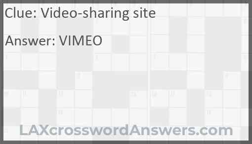 Video-sharing site Answer